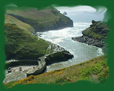Boscastle and its world famous harbour is located in the valley below Pennycrocker.